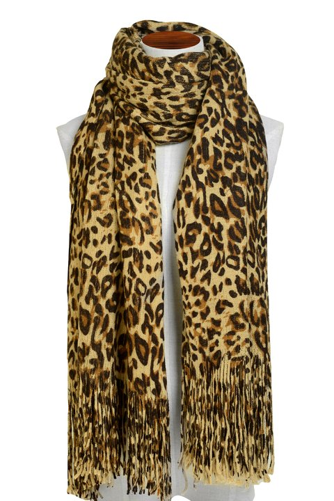 Pashmina Animal Print Beige