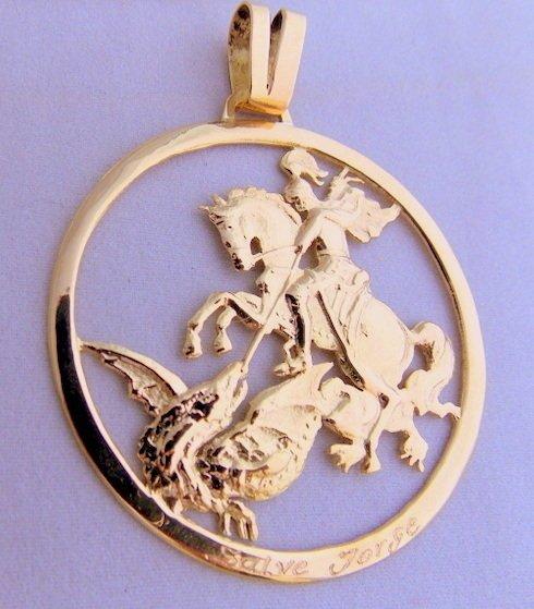Pingente Modelo São Jorge de Ouro 18K 11Gr. 0% OFF a24c1d2738