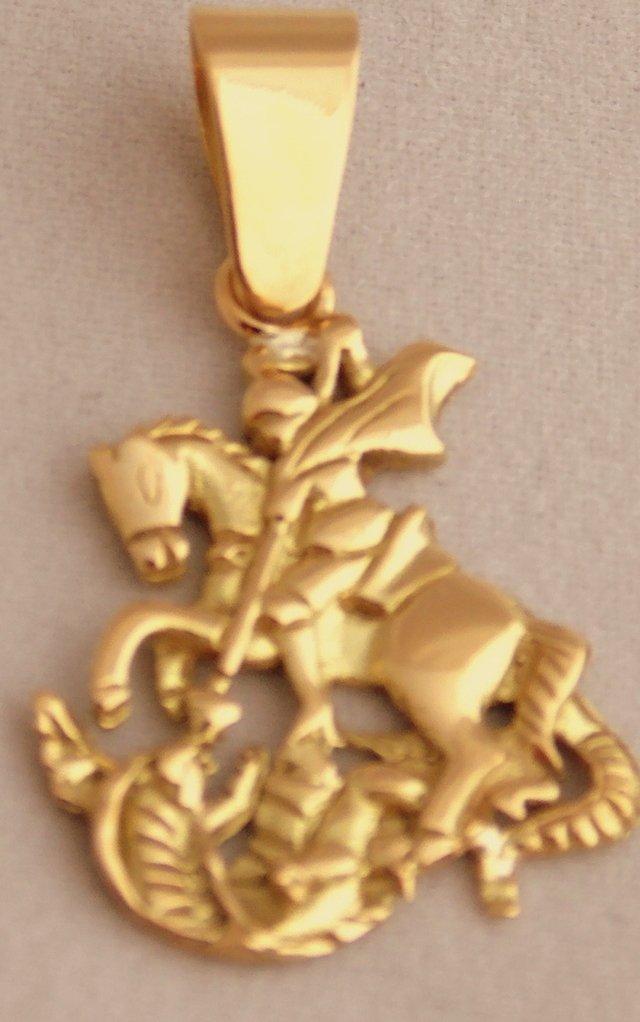 Pingente São Jorge em Ouro 18K 3Gr. - Ouro Madureira a82910693d