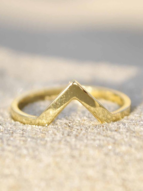 Anillo Chevron Gold. Innata