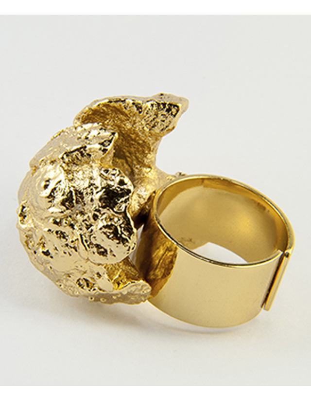 Anillo Coral Flor. Pilu
