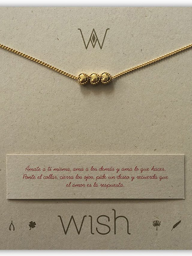 Collar 3 Corazones. Wish en internet