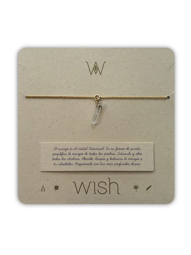 Pulsera Cuarzo Punta Mini. Wish