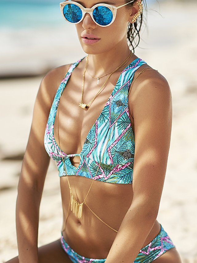 Top Bikini Geometry Palm. Malai