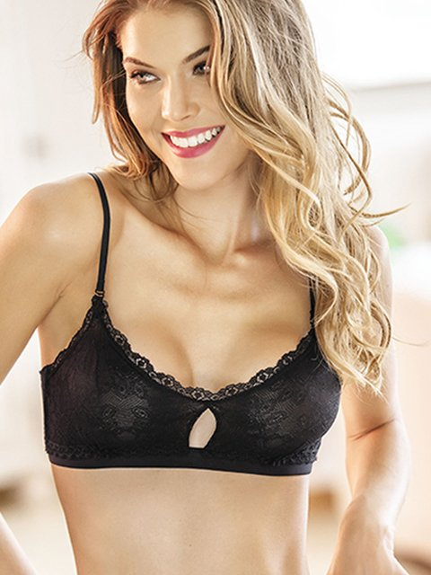 Top Triangular Corte Negro. Kibys