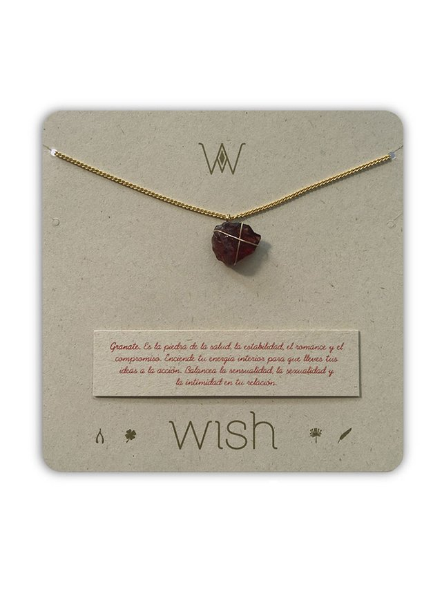 Collar Granate Piedra Del Romance. Wish