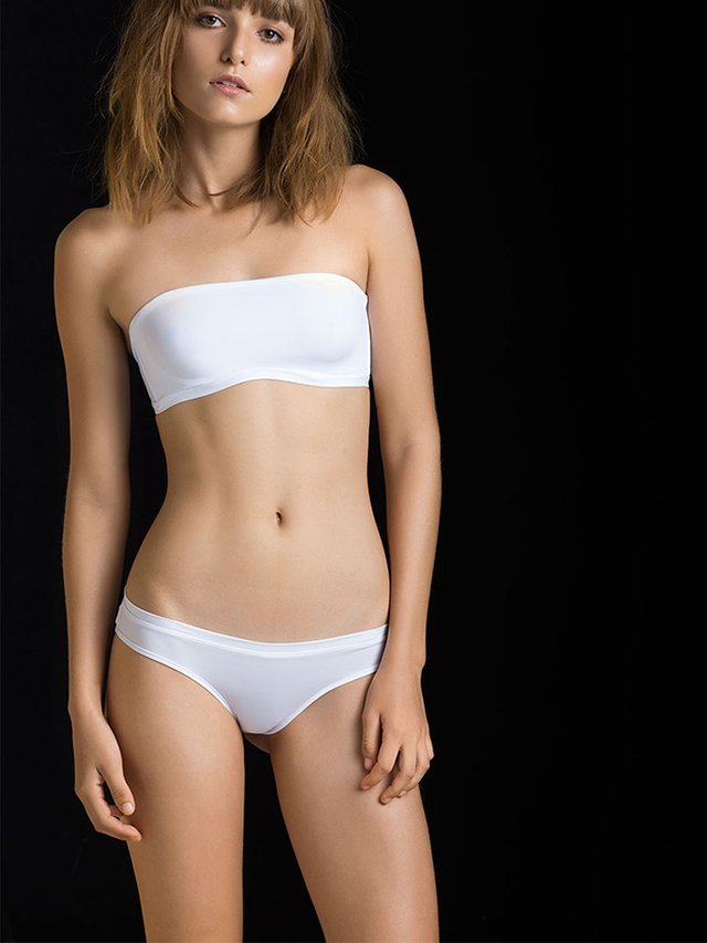 Brasielra Lycra Blanca. Options en internet