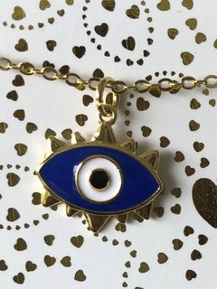 Collar Ojo pesta–a triangulo azul PROTECCION