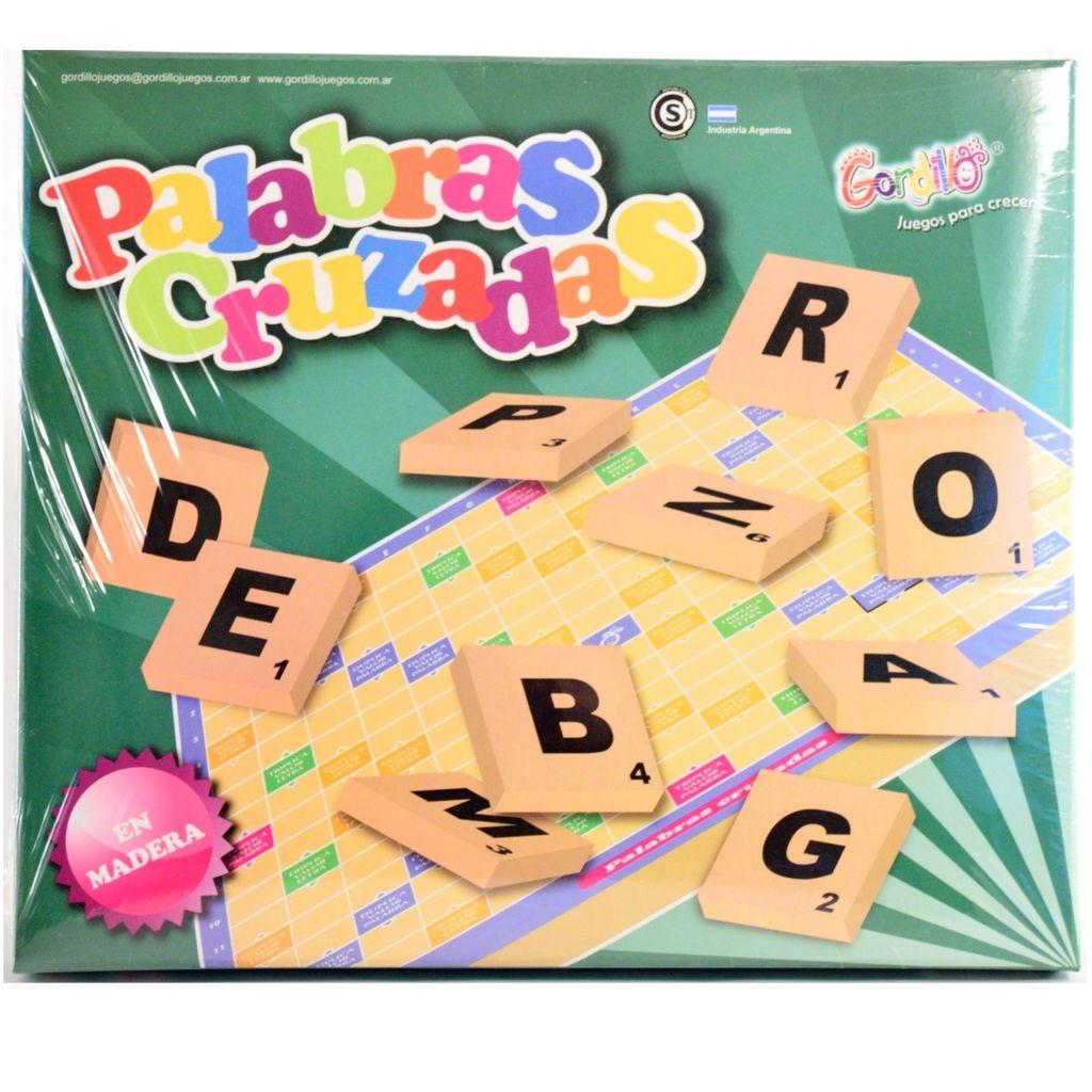 Palabras cruzadas juego de mesa de madera for Juego de mesa sin palabras