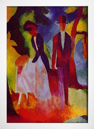 Imagem do August Macke - People At  The Blue Lake
