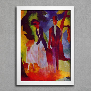 August Macke - People At  The Blue Lake - comprar online