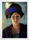 Imagem do August Macke - Portrait of the Artist's Wife With a Hat