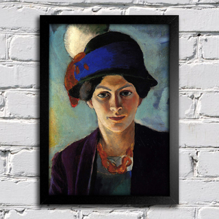 August Macke - Portrait of the Artist's Wife With a Hat na internet