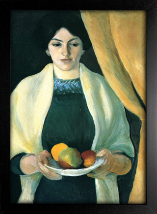 August Macke - Portrait With Apples - Portrait of the Artist's Wife - loja online