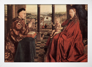 Jan Van Eyck - A Virgem do Chanceler Rolin - loja online