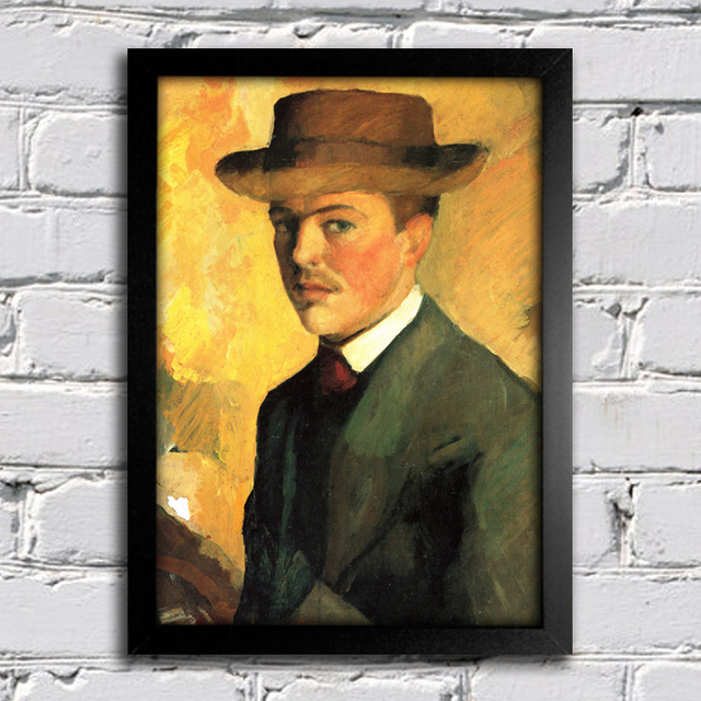 August Macke - Self Portrait With Hat - comprar online