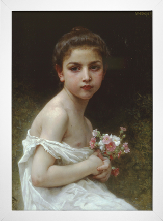 Bouguereau - Little Girl With a Bouquet - loja online
