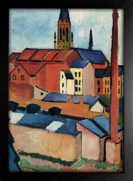 August Macke - St Mary's With Houses and Chimney Bonn - loja online