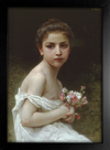 Imagem do Bouguereau - Little Girl With a Bouquet