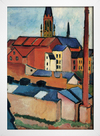 Imagem do August Macke - St Mary's With Houses and Chimney Bonn