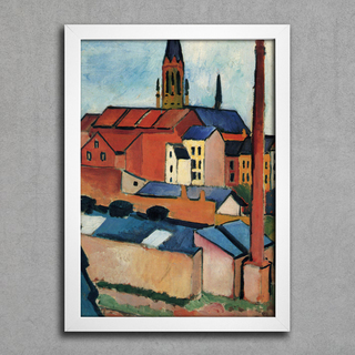 August Macke - St Mary's With Houses and Chimney Bonn - comprar online