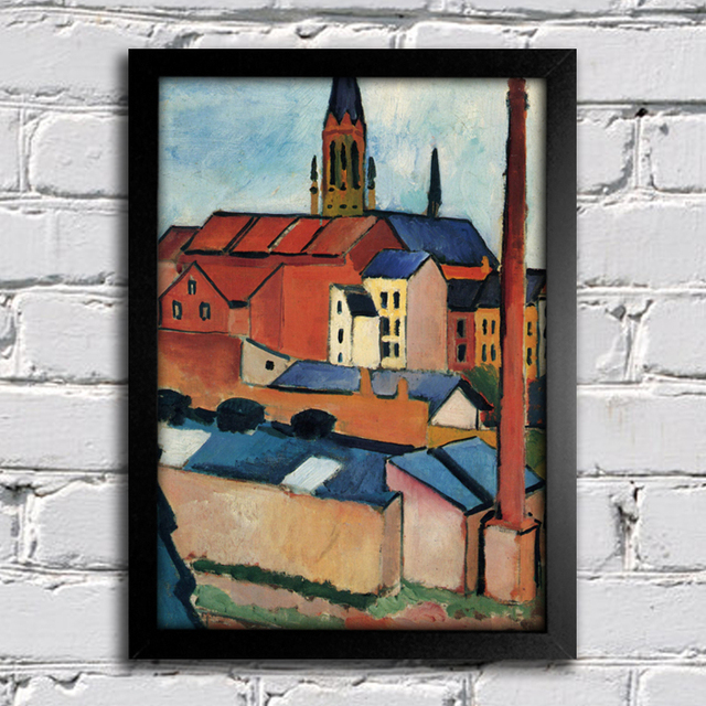 August Macke - St Mary's With Houses and Chimney Bonn