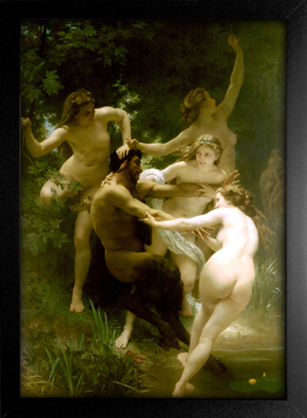 Imagem do Bouguereau - Nymphs and Satyr