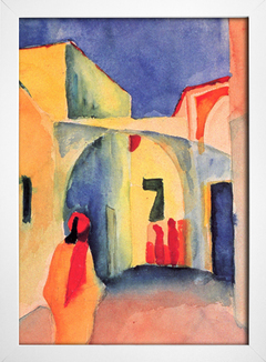 Imagem do August Macke - Blick in Eine Gasse