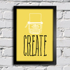 Poster Decorativo Create