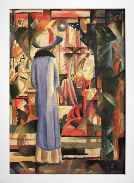Imagem do August Macke - Woman in Front of a Large Illuminated Window