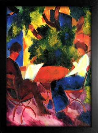 August Macke - At The Garden Table - loja online