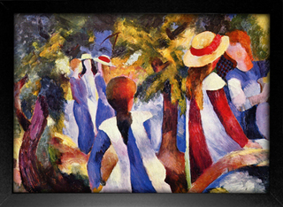 August Macke - Girl in the Greenery - loja online