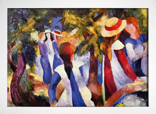 Imagem do August Macke - Girl in the Greenery