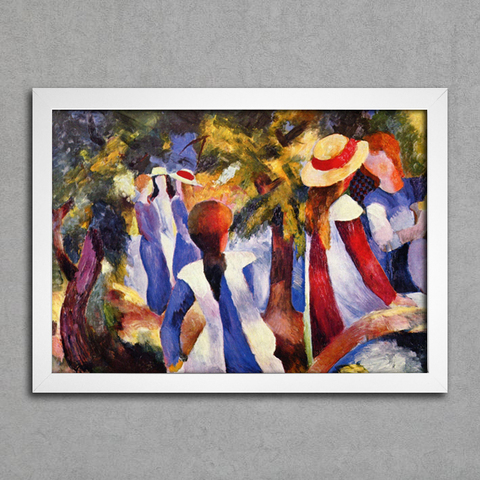 August Macke - Girl in the Greenery - comprar online