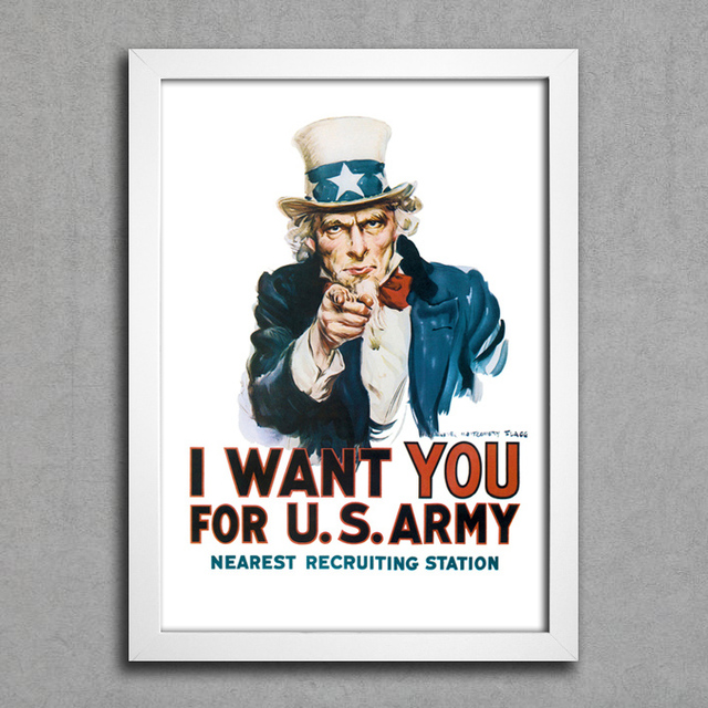 Poster I Want You To US Army na internet