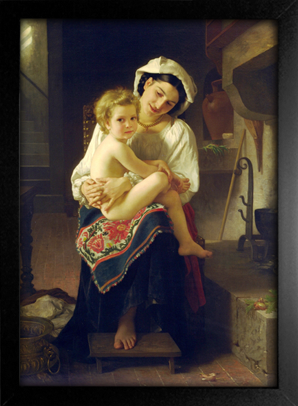 Imagem do Bouguereau - Young Mother Gazing at her Child