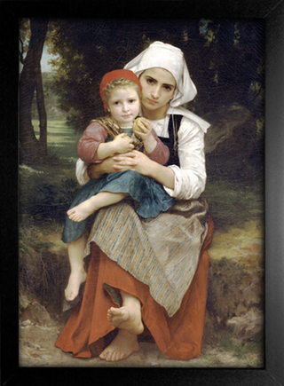 Imagem do Bouguereau - Breton Brother and Sister