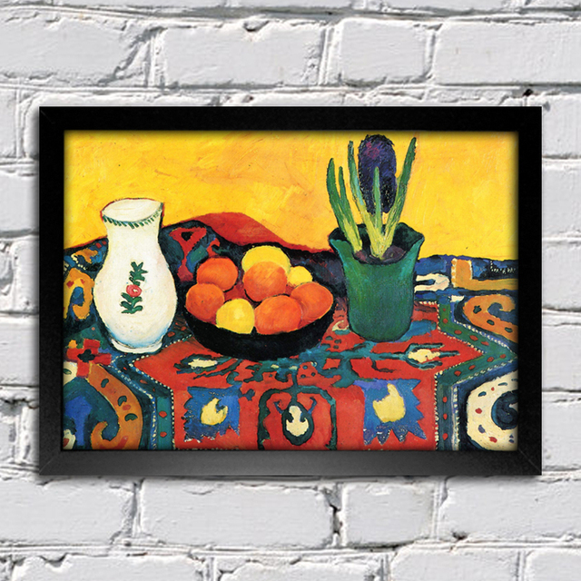 August Macke - Still Life Hyacinths Carpet