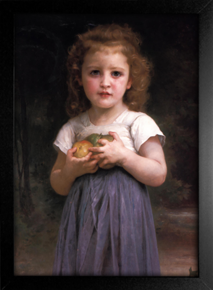 Imagem do Bouguereau - Little Girl Holding Apples in her Hands