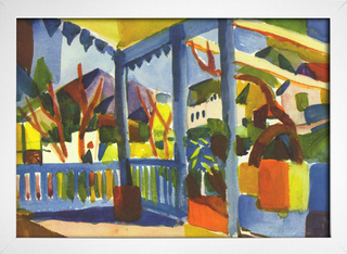 Imagem do August Macke - Terrace of the Country House in St Germain