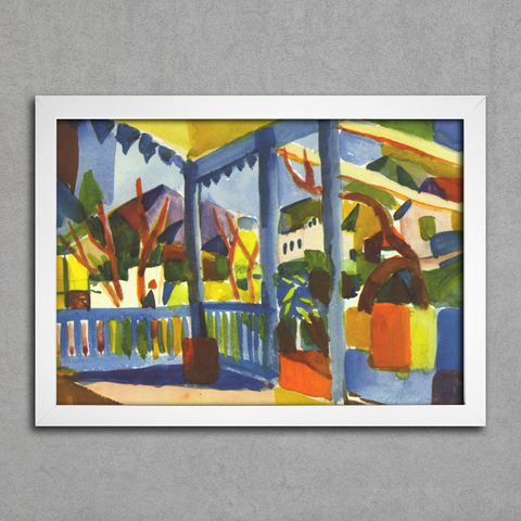 August Macke - Terrace of the Country House in St Germain