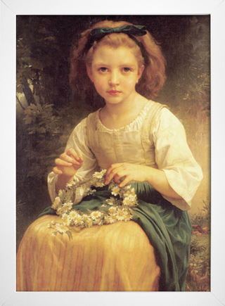 Bouguereau - Child Braiding a Crown - loja online