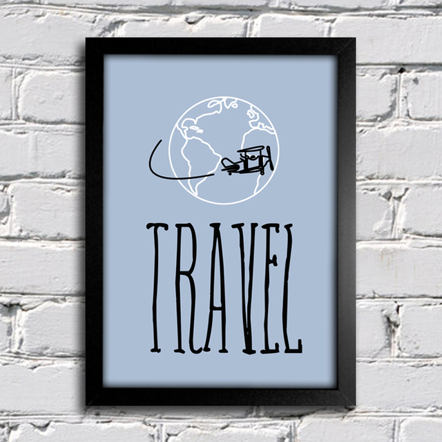 Poster Decorativo Travel