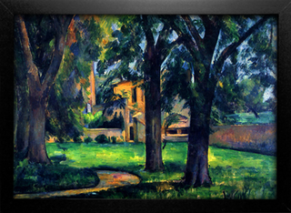 Cezanne - Chestnut Tree and Farm - comprar online