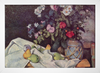 Cezanne - Flowers in a Pot and Fruit - loja online