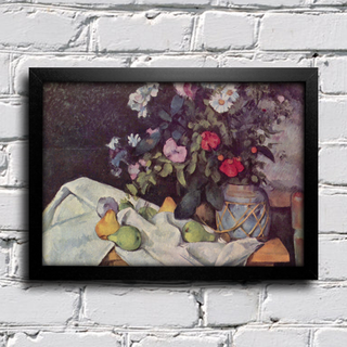 Cezanne - Flowers in a Pot and Fruit na internet
