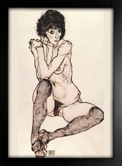 Egon Schiele - Seated Female Nude With Elbows Propped