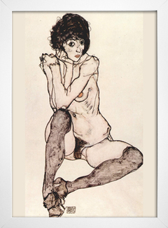 Egon Schiele - Seated Female Nude With Elbows Propped - comprar online