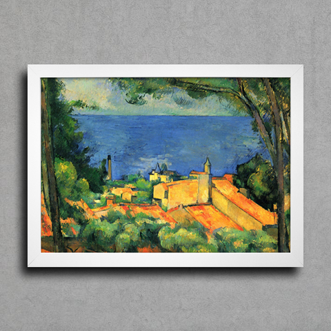 Cezanne - L'Estaque With Red Roofs