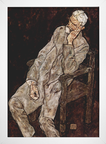Egon Schiele - Portrait of an Old Man Johann Harms - loja online